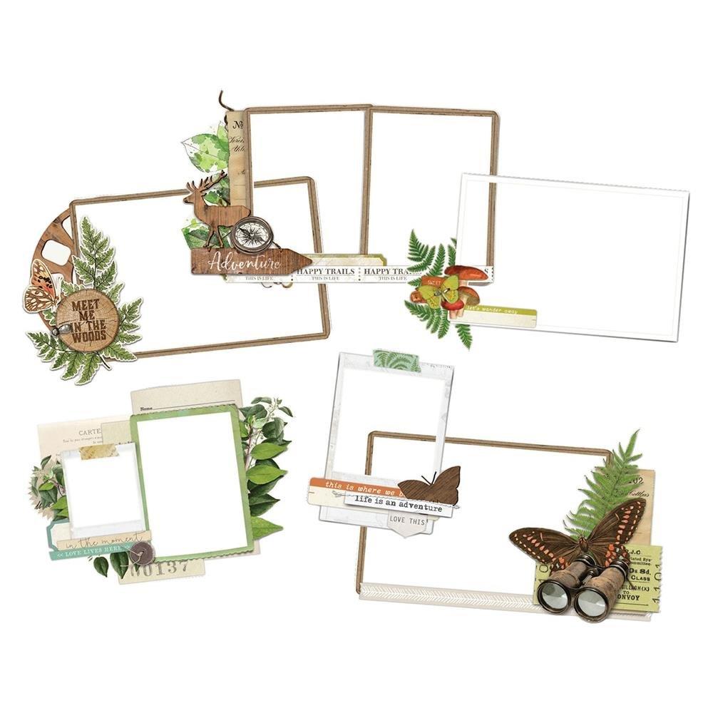 Simple Vintage Great Escape Layered Frames Die-Cuts 6/Pkg-