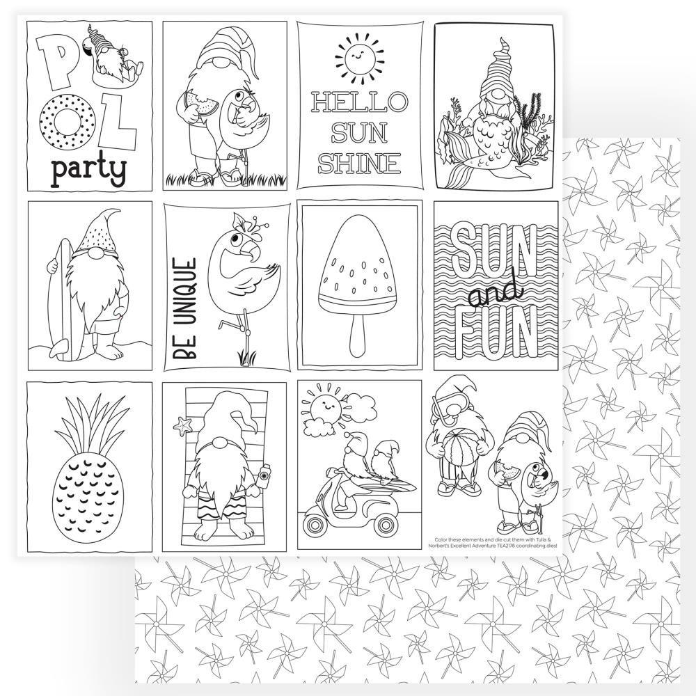 Tulla & Norbert's Excellent Adventure Cardstock 12X12-Color Me