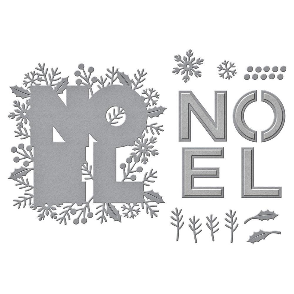 Festive Noel- Spellbinders Etched Dies