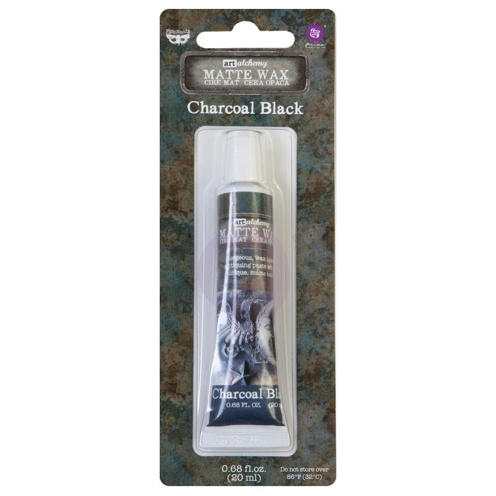 Finnabair Art Alchemy Matte Wax .68 Fluid Ounce-Charcoal Black