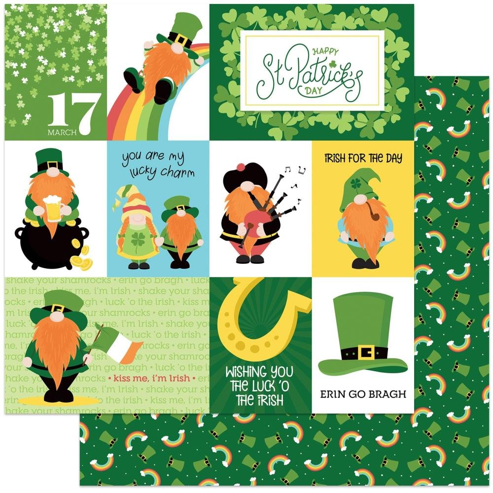 Luck Of The Irish-Tulla & Norbert's Lucky Charm Double-Sided Cardstock 12X12