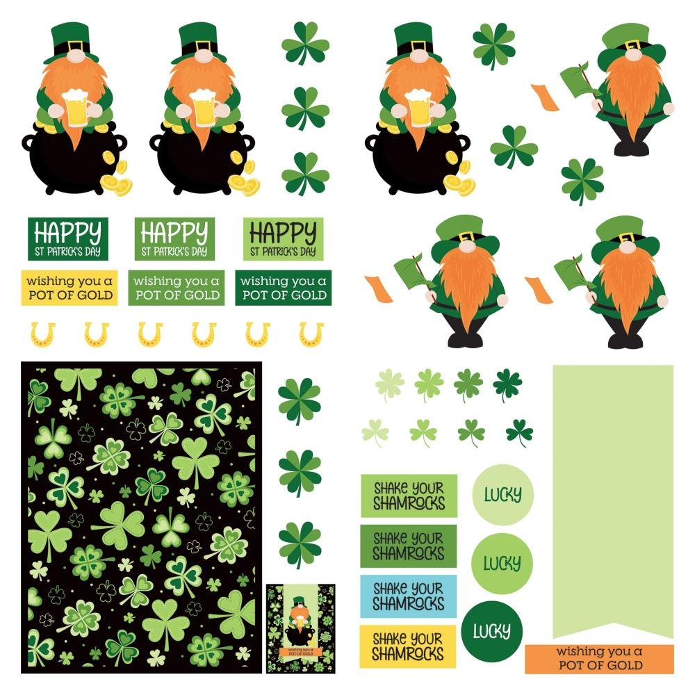 Lucky Charm Dies Paper    -Tulla & Norbert's Lucky Charm Double-Sided Cardstock 12X12  -