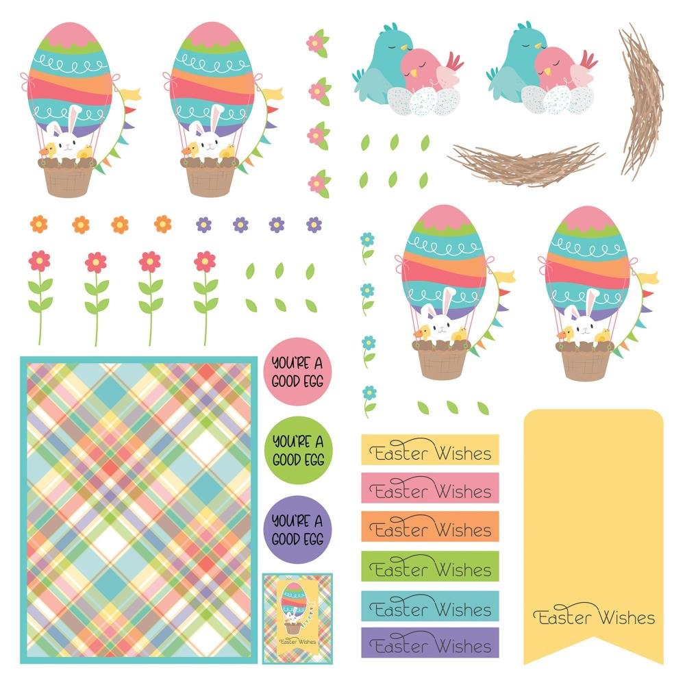 Die Paper -Baskets Of Bunnies Double-Sided Cardstock 12X12''