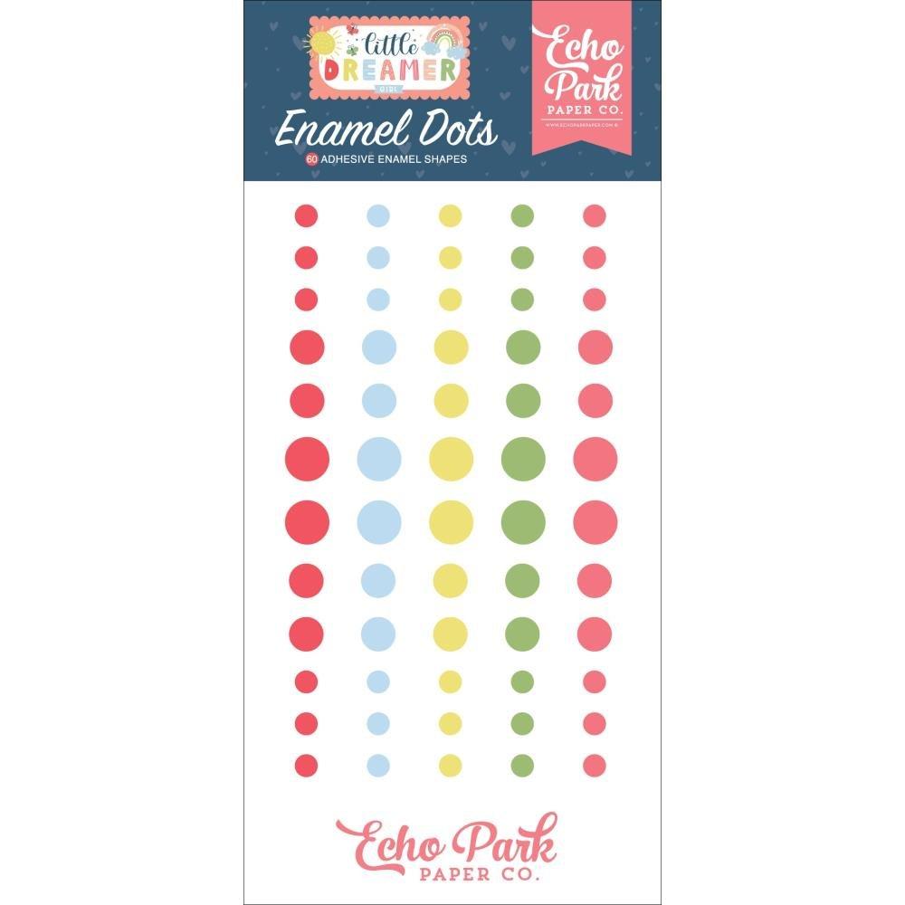 Echo Park Adhesive Enamel Dots 60/Pkg-Little Dreamer Girl