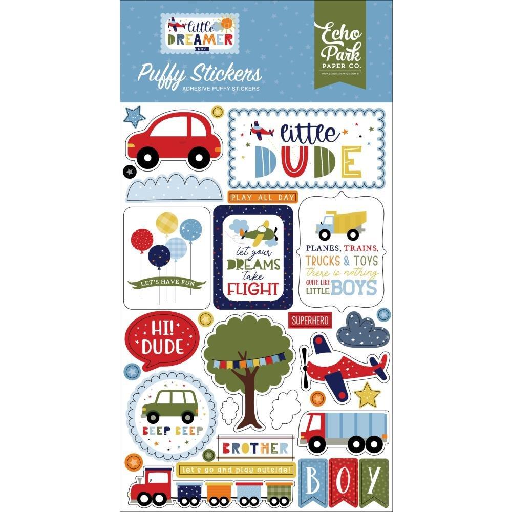 Little Dreamer Boy Puffy Stickers-