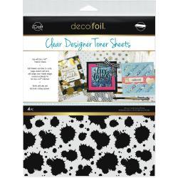 Splatter- Deco Foil Clear Toner Sheets 8.5X11 4/Pkg
