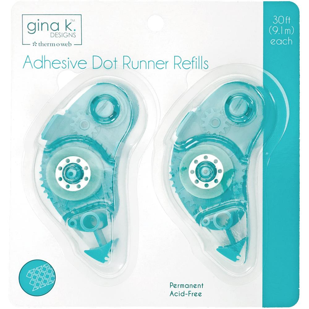 Gina K Designs Adhesive Dot Runner Refill 30ft 2/Pkg