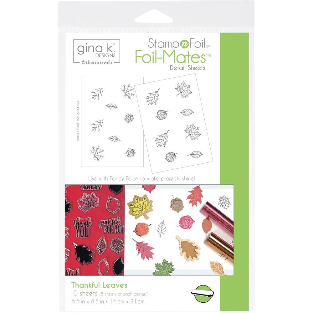 Thankful Leaves- Gina K Designs StampnFoil Foil-Mates Detail Sheets 10/Pkg