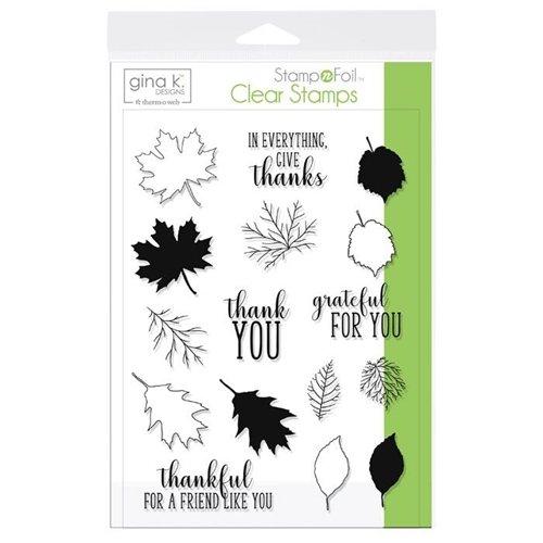 Thankful Leaves- Gina K Designs Stamp Set