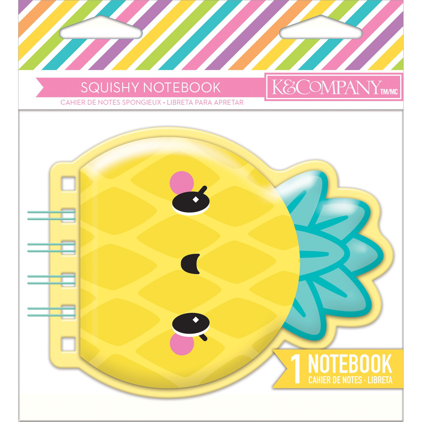 Squishy Notebook- Pineapple