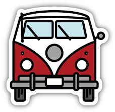 Bus Front View - Large Printed Sticker