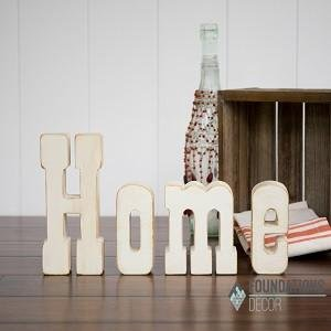 Foundations Decor Home Wood Letters