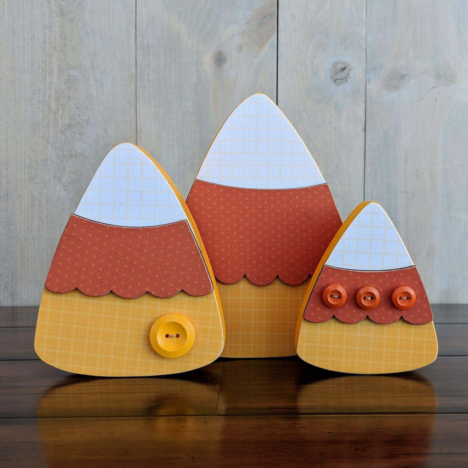 Candy Corn Trio - Foundations Decor Wood Craft