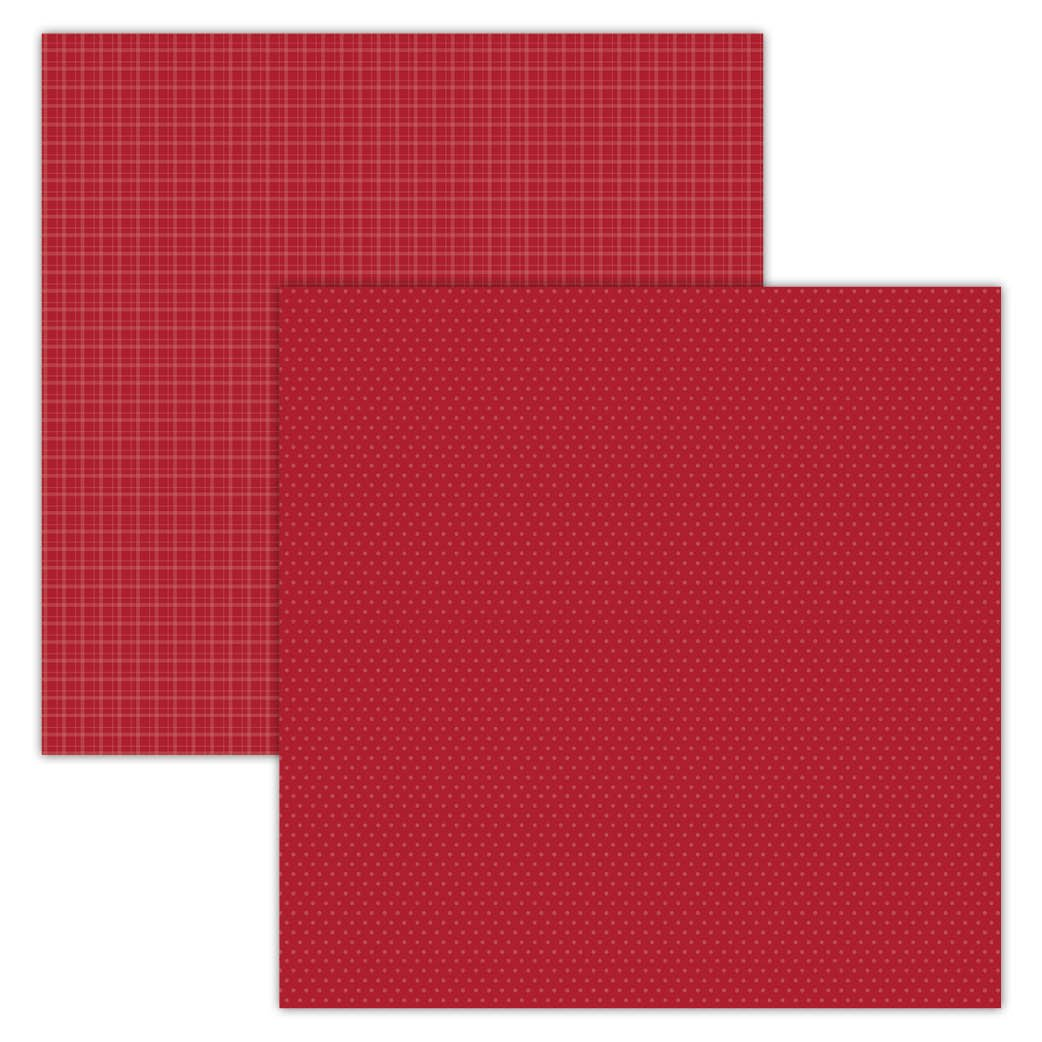 Red Plaid/Dots 12x12 Foundation Paper