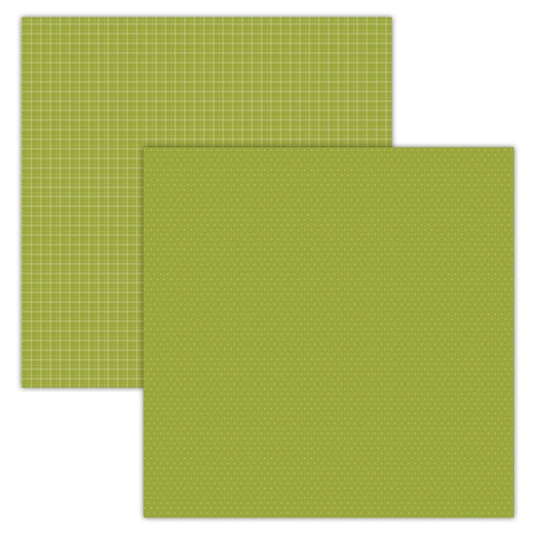 Green Plaid/Dots 12x12 Foundation Paper