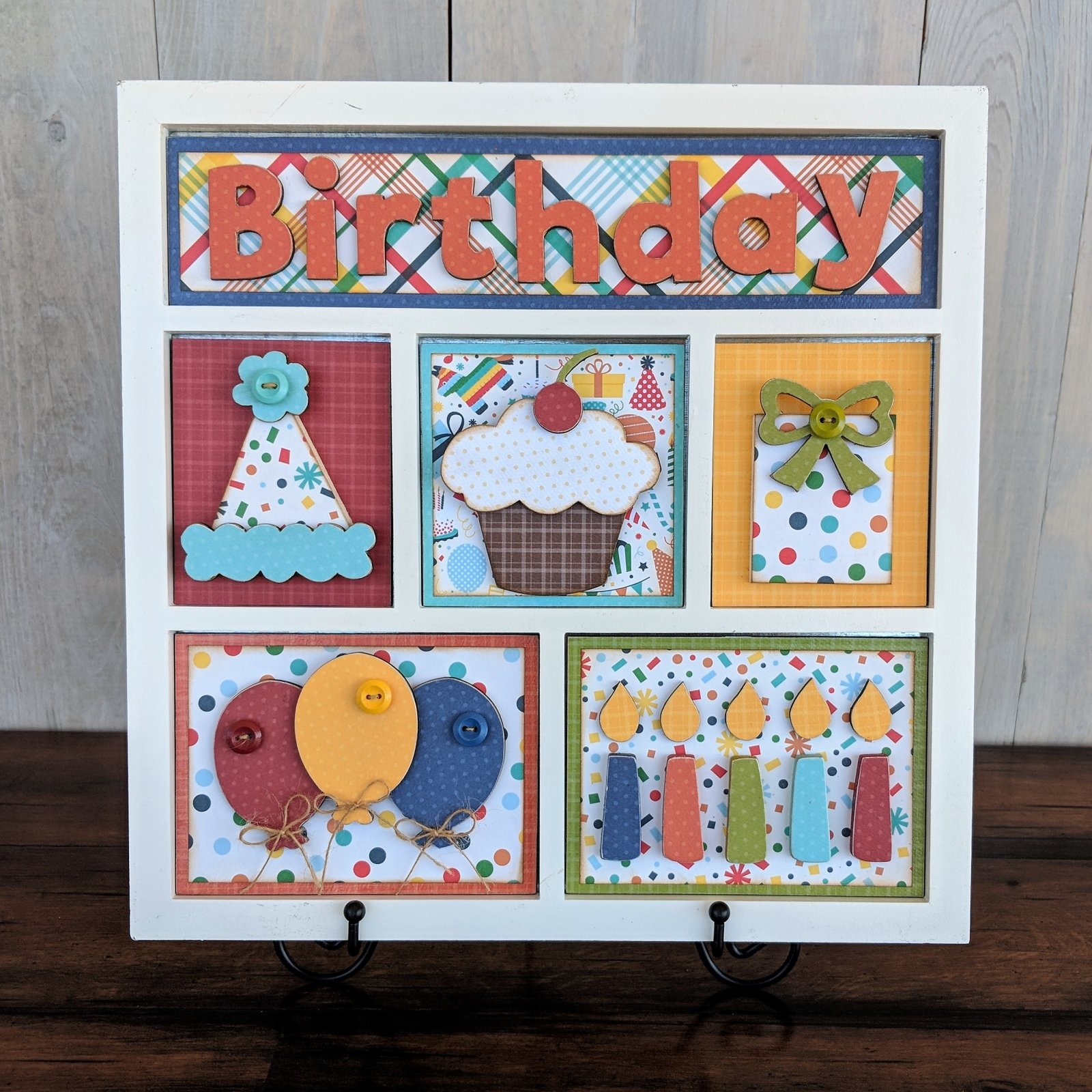 Shadow Box kit- Birthday