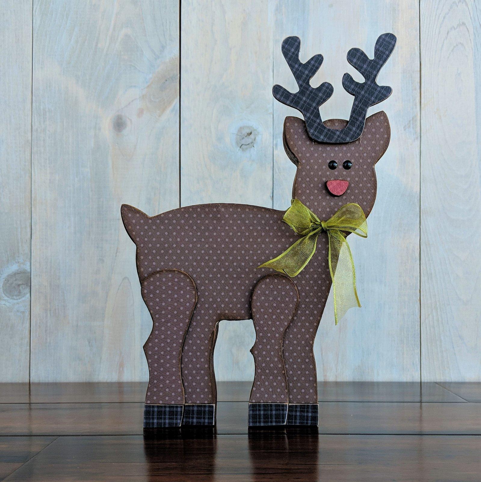 Reindeer - Foundations Decor Wood Craft