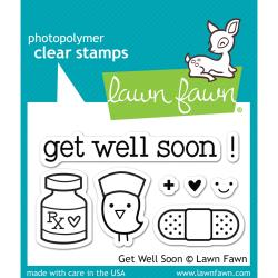 Get Well Soon- Lawn Fawn Clear Stamps 3X2