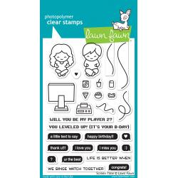 Lawn Fawn Clear Stamp - Screen Time