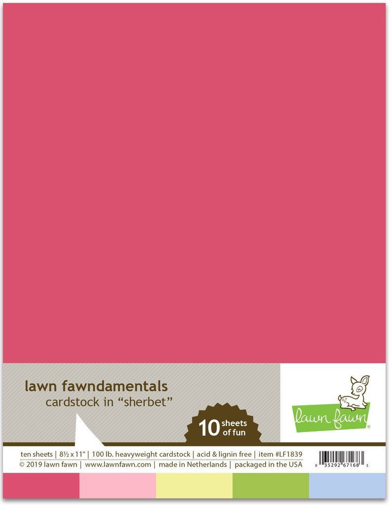 Lawn Fawn Sherbet Pack Cardstock