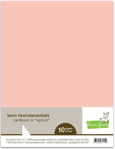 Lawn Fawn Apricot Cardstock