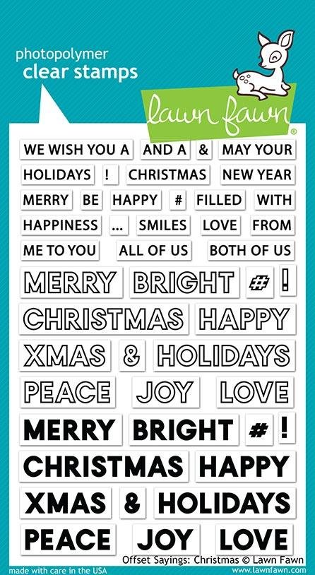 Offset Sayings Christmas stamp - Lawn Fawn