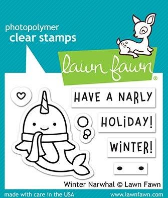 Winter Narwhal stamp - Lawn Fawn