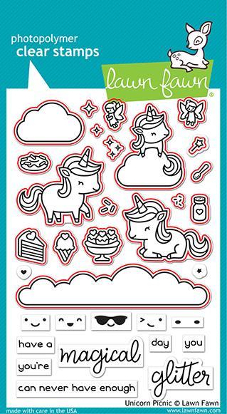 unicorn picnic- Lawn Cuts Custom Craft Die