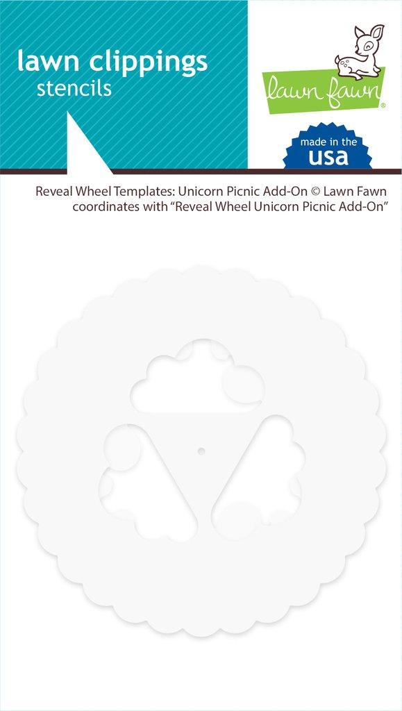 unicorn picnic add-on  Stencils-Reveal Wheel Template- Lawn Fawn