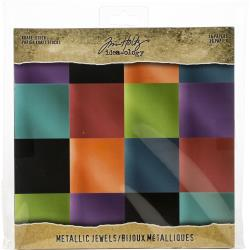 Jewels Idea-Ology Paper Stash Kraft Metallic Paper Pad 8X8 36/Pkg