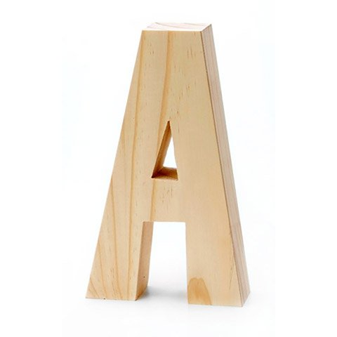 Chunky Wood Letter-A