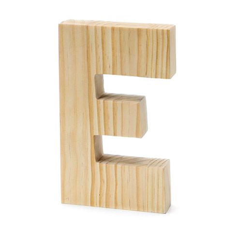 Chunky Wood Letter - E - 8 x 5 inches