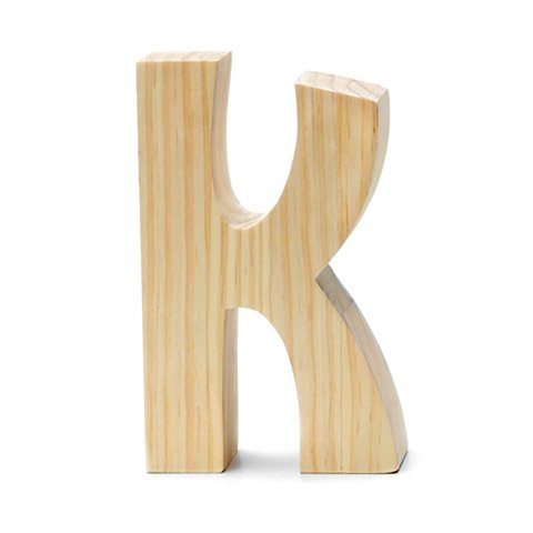 Chunky Wood Letter -k - 8 x 5 inches