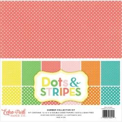 Echo Park Double-Sided Collection Pack 12X12 12/Pkg Summer Dots & Stripes