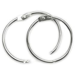 Book Rings 1.5 3/Pkg Silver