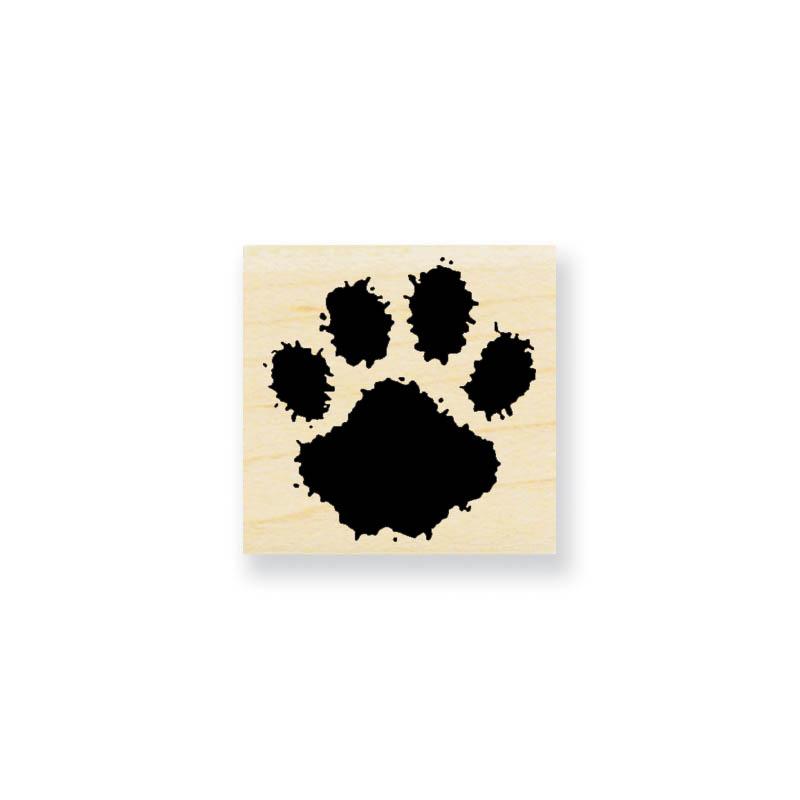 Stampendous Wood Stamp - Paw Print