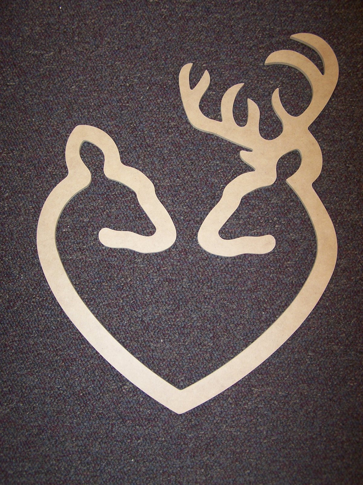 Buck & Doe Heart- 18 MDF