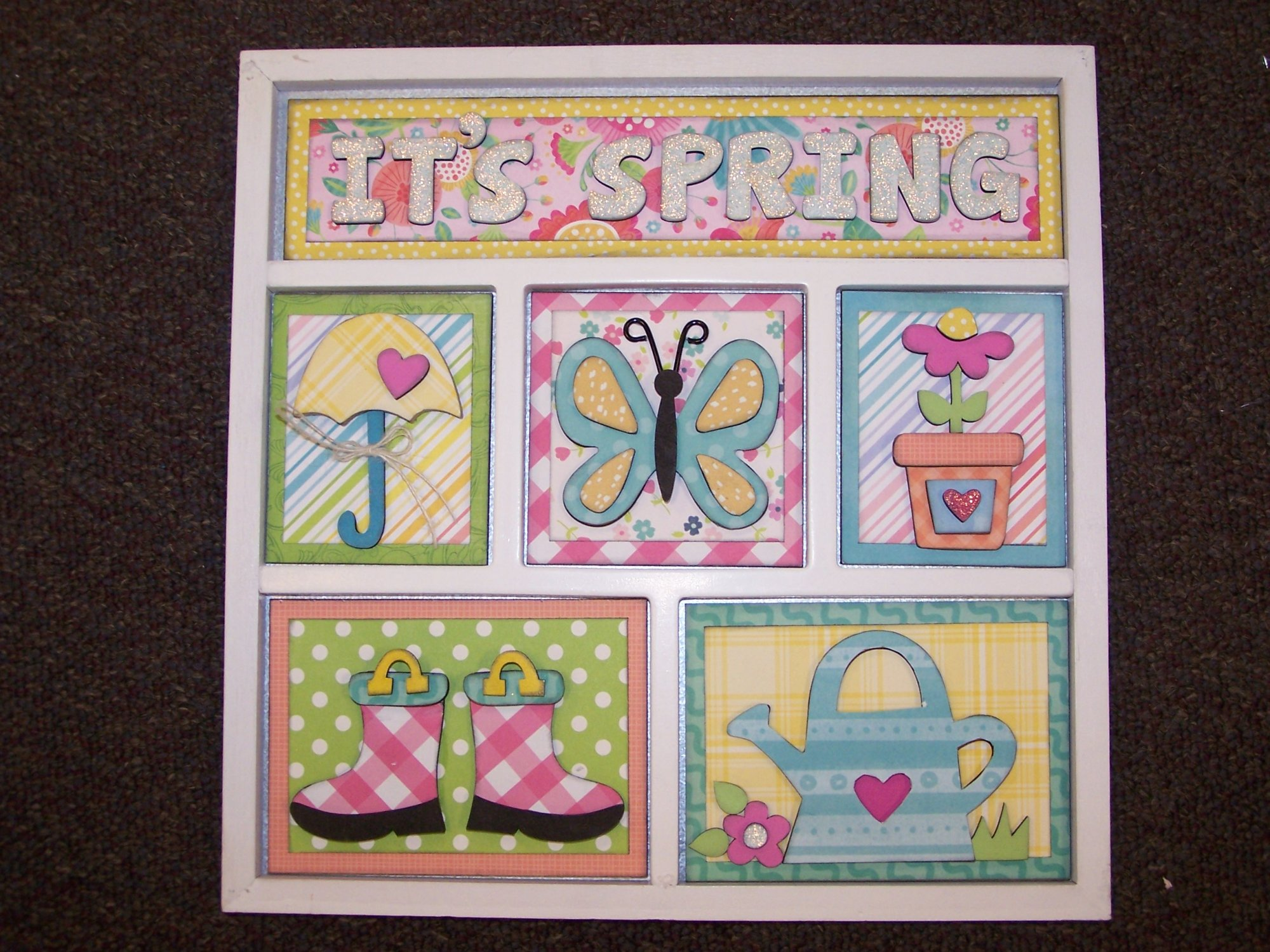 Shadow Box Paper Kit- It's Spring