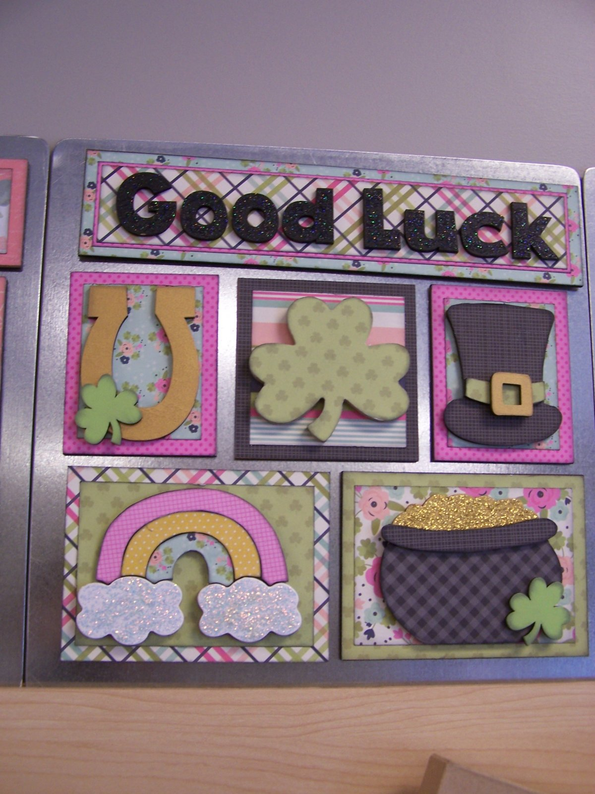 Shadow Box Paper Kit- Good Luck