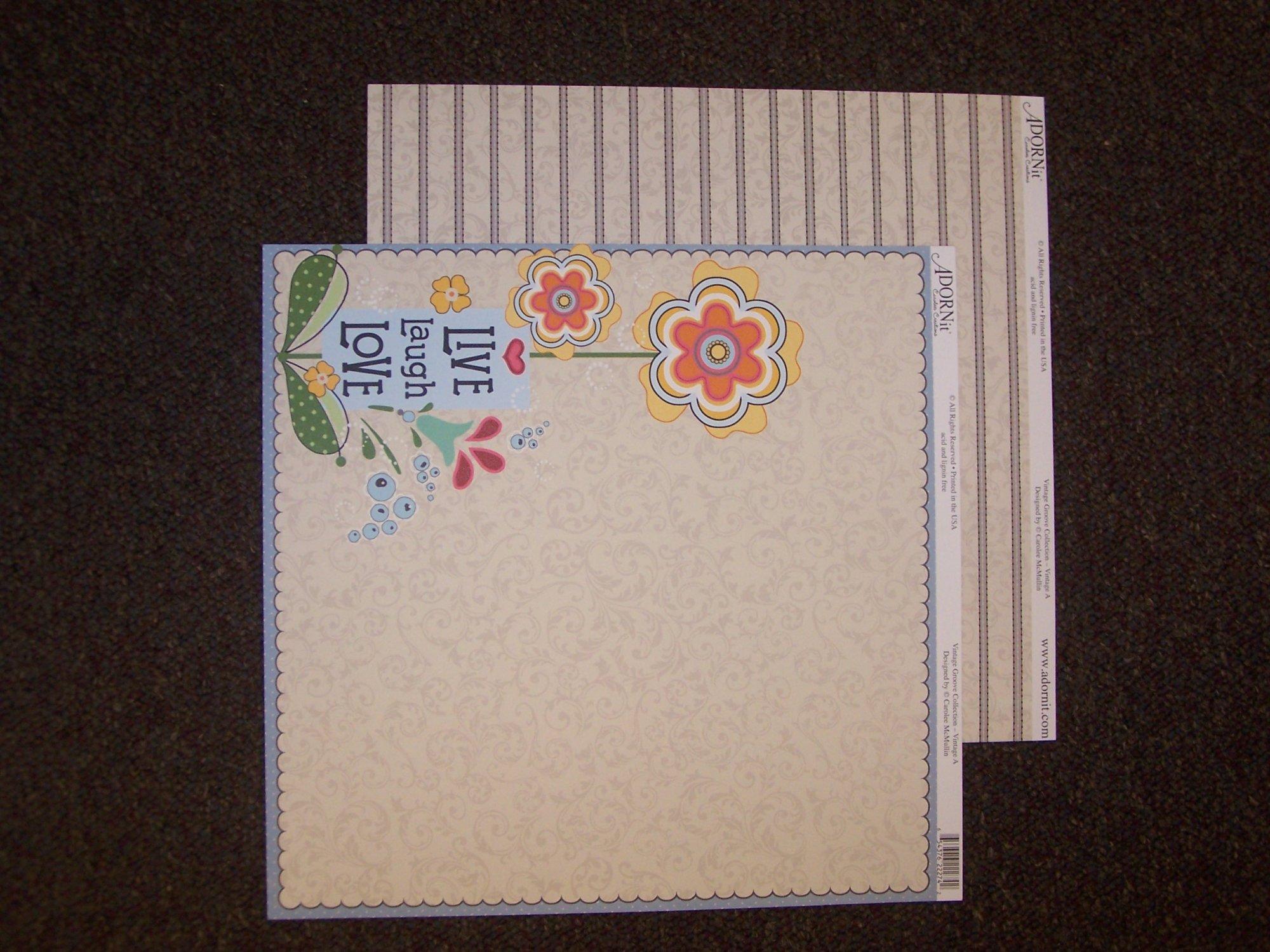 Vintage A -Vintage Groove Collection 12X12 Adorn It Paper