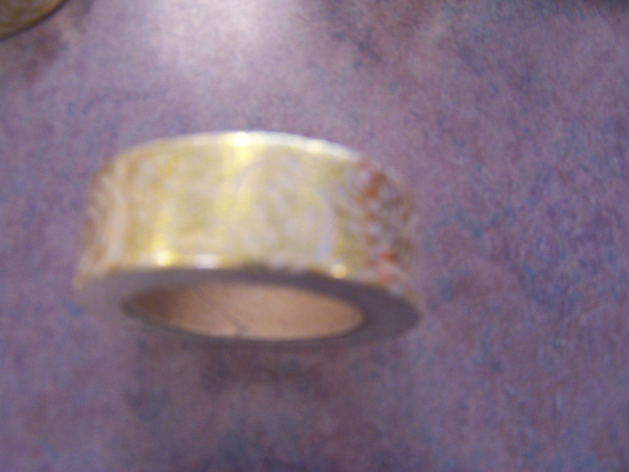 Gold Foil Flower Pattern Washi Tape