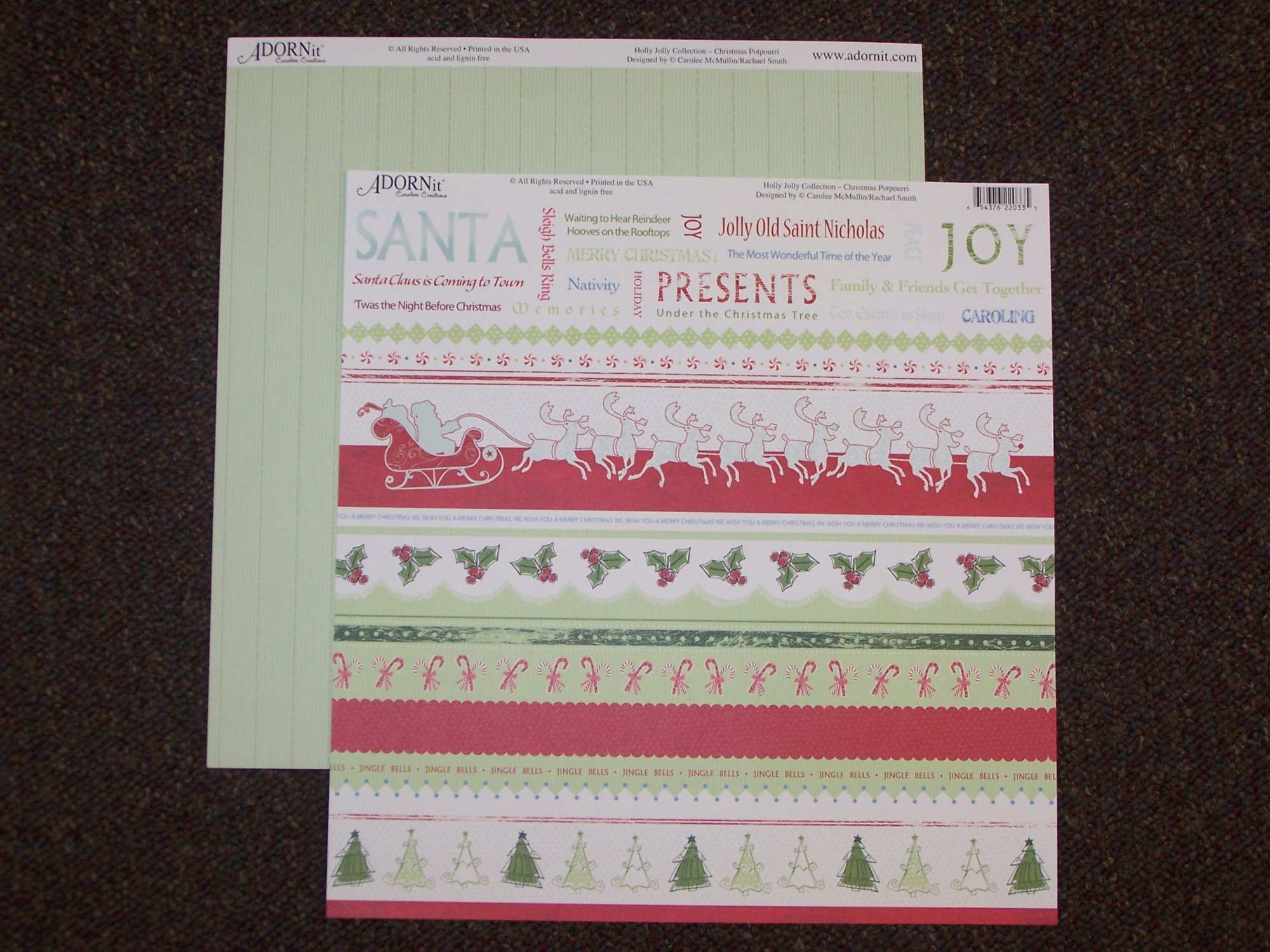 Christmas Potpourri - Holly Jolly 12X12 Adorn It Paper