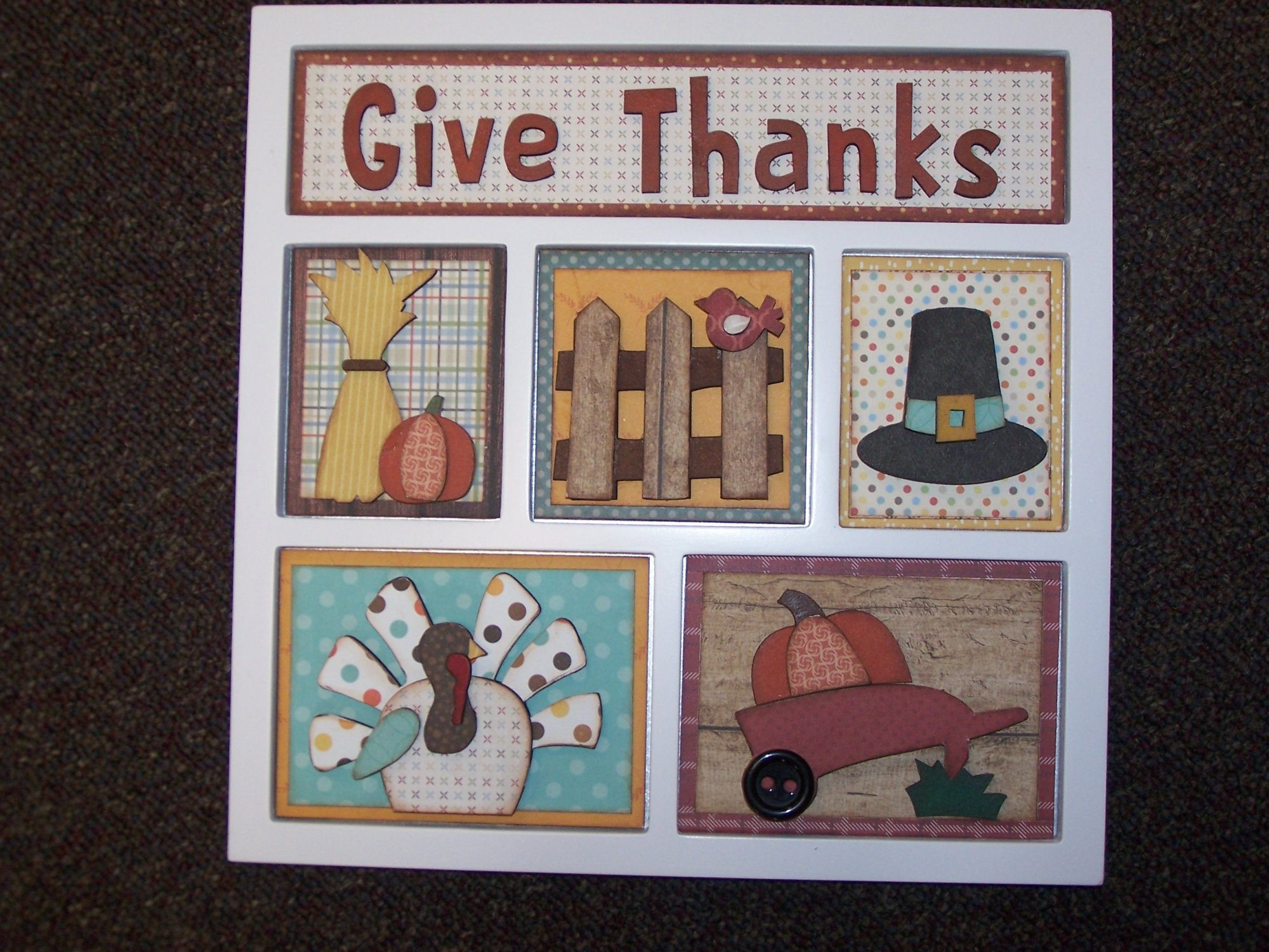 Shadow Box Paper Kit- Give Thanks