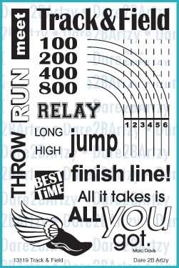 Track & Field Stamp