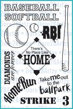 Dare 2B Stamp- Baseball