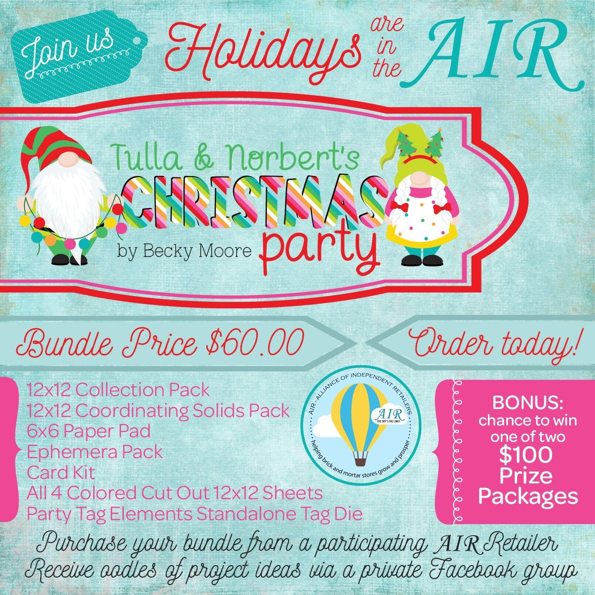 Tulla & Norbert Christmas Party Bundle- PREORDER