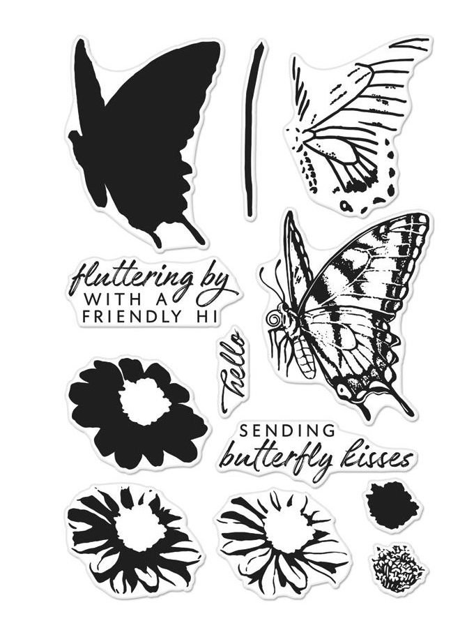 Hero Arts Clear Stamp Set- Color Layering Swallowtail