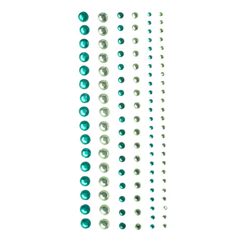 Assorted Round Green Bling Stickers: 116 pc