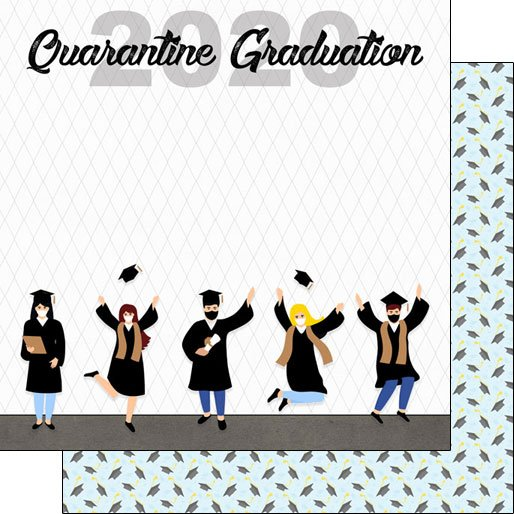 GRADUATION 2020 QUARANTINE PAPER Scrapbook Customs -