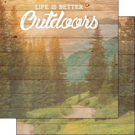 OUTDOORS, LIFE IS BETTER PAPER Scrapbook Customs